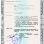 Пример выдаваемого этогового документа